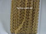 """Золота декоративна тасьма """"грецька хвиля""""металізована, ширина 1.3 см(1 уп20 ярдів), фото 2"""