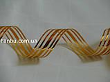 Золотая лента для бантов с красивым переливом(1рулон-25ярдов)ширина 3 см, фото 3