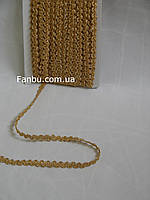 """Золотая тесьма """"низкая волна """"металлизированная, ширина 1см(1 упаковка 20ярдов)"""