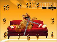 """Детские настенные часы """"Гарфилд"""" (Garfield) 30*40 см, часы для детской"""