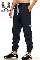 Летние мужские штаны карго Fred Perry - Navy Blue (Синий) (Опт и розница)