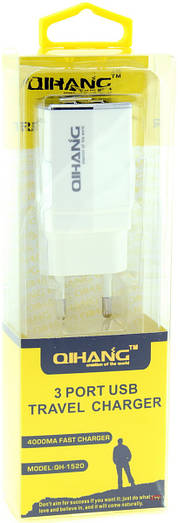 Сетевой адаптер 3*USB разъемами QH-1520Акция