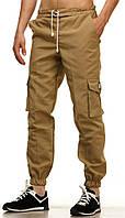 Летние мужские штаны карго Fred Perry -Khaki (Песок) (Опт и розница)