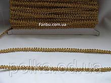 """Золотая тесьма """"петля"""" металлизированная, ширина 1 см (1 упаковка - 20 ярдов)"""
