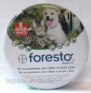 ФОРЕСТО-Ошейник от клещей, блох и т.д. для собак и кошек, 38см