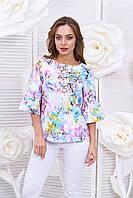 Яркая блуза с цветочным принтом Рандеву1б Arizzo 44-50  размеры
