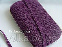 """Цветная тесьма """"шубная"""" темно фиолетовая,ширина 1.2см(1уп-50метров)"""