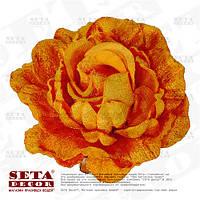 Брошь, заколка, резинка Роза бархатная оранжевая