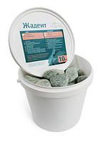 Камни для сауны жадеит шлифованный средний в ведре Хакасия