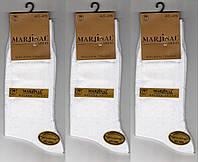 Носки мужские 100% шёлковый хлопок Marjinal, Турция, ароматизированные, без шва, белые, 1855