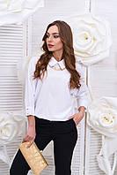 Стильная креп-шифоновая белая блуза  Стелла Arizzo 44-52  размеры