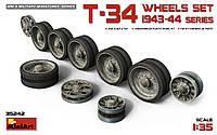 Набор колес для танка Т-34 образца 1943-1944 года 1/35 MINIART 35229