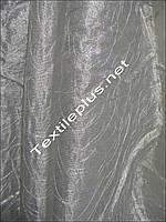 Тюль штора серебреная паутинка