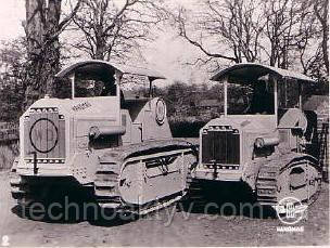 Трактор Hanomag WD Z50 (слева) и WD Z25 (справа)