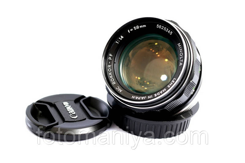 MC Rokkor 58mm f1,4 з байонетом Canon EF
