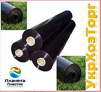 Пленка черная полиэтиленовая 200 мкм (Для мульчирования,строительства) 50м 1,5 м рукав 3 м в развароте, фото 1