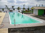 Композитный Олимпийский бассейн сборный шириной 5,0м и длиной до 50м, h=1,8м