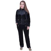 Женский спортивный костюм велюровый черный крокодил