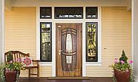 Двери входные Abwehr - Massandra Vinorit ковка 960*2050 мм. (Дуб золотой патина)