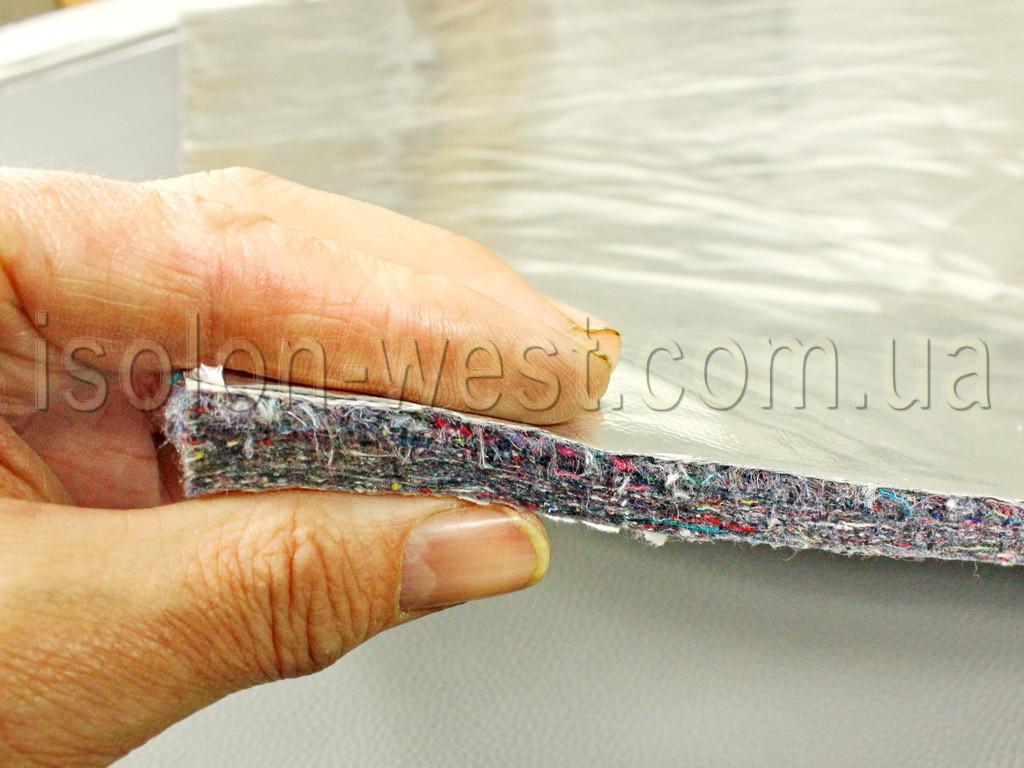 Шумоизоляция термостойкая ФСВ-12К (100х156 см), толщина 12мм. Для подкапотного пространства, на клею