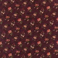"""Ткань для пэчворка и рукоделия американский хлопок """"Мелкие цветы на бордо"""""""