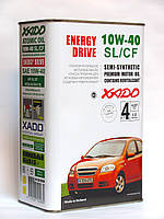 XADO (ХАДО) Atomic Oil 10W-40 SL/CF моторное масло полусинтетика - 4 литра.