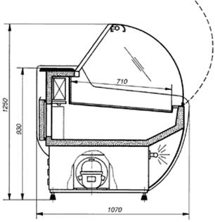 Холодильная витрина Cold W-20 SGSP, фото 2