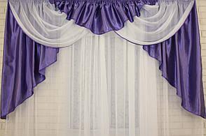 Ламбрекен из атласа №43 Фиолетовый