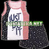 Детский летний костюм р. 80-86 для мальчика тонкий ткань КУЛИР 100% хлопок 3544 Синий 86