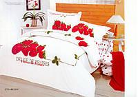 Комплект постельного белья Le Vele Strawberry сатин 220-200 см, фото 1