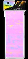 Голографическая фольга для дизайна ногтей. Pink. Розовая.
