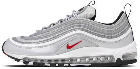 55a8a05eb9a058 Мужские кроссовки Nike Air Max 97 OG QS Metallic Silver купить в ...