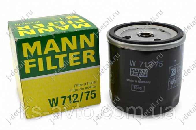 Фильтр масляный W 712/75 (DAEWOO, OPEL)