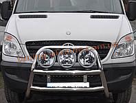Защита переднего бампера кенгурятник из нержавейки на Mercedes Sprinter 2006-2013