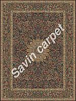Иранский ковер (Персидский),  коллекция  Kerman, Hezargol, dark blue