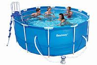 Каркасный круглый бассейн Bestway 56261, 366х100 см + лесница 28061,107