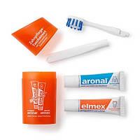 Дорожный набор зубных паст с щеткой Elmex+Aronal