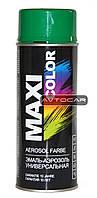 Акриловая краска Maxi Color ✔ цвет: зеленый ✔ 400мл.