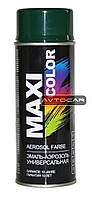 Акриловая краска Maxi Color ✔ цвет: темно-зеленый ✔ 400мл.