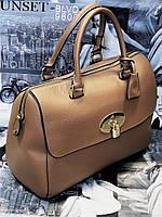 Женская кожаная сумка MULBERRY 1293 BEIGE бежевая