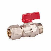 SD FORTE Кран шаровый для металлопластиковых труб 1/2н х 16