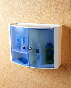 Настенный шкаф с дверцами (прозрачно-голубой), Prima Nova, 08423
