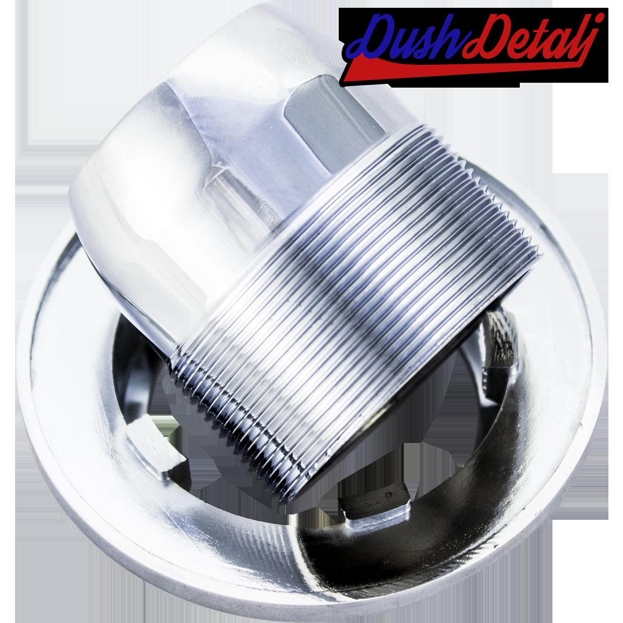 Шайба хромированная для крепления картриджа в смесителе душевой кабины ( ШХ02 ) с наружной резьбой