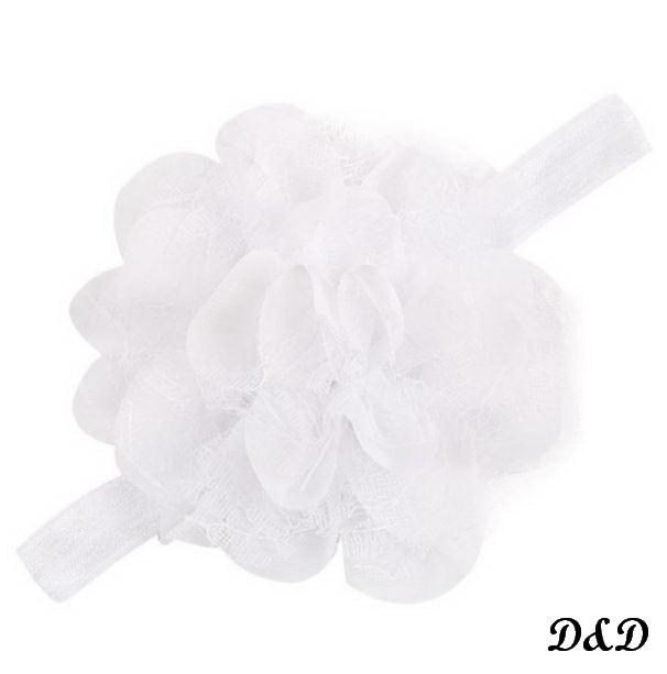 Повязка на голову для девочки, цветок белый, фото 1