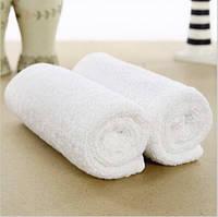 Полотенца махровые 30*30 белые (500 гр/м²) для гостиниц