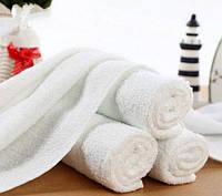 Полотенца махровые 40*70 белые (400 гр/м²) для гостиниц
