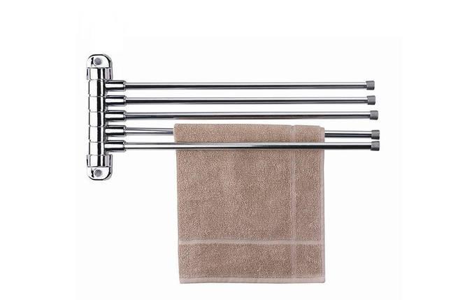 Вешалка для полотенец (хром) 5-ти рожковая 47 см, Prima Nova, CA05-KR, фото 2