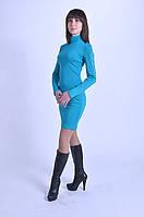 Платье-гольф бирюзового цвета Моник