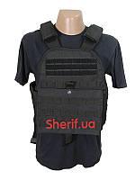 Жилет разгрузочный полиция под броне-плиты Molle PLATE CARRIER VEST Black 13463102