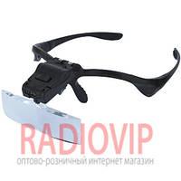 Лупа-очки бинокулярная c LED подсветкой 1Х 1.5X 2X 2.5X 3.5 увеличения Magnifier 9892B2